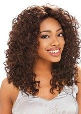 Perfect Curly Human Hair African American Lace Front Wig