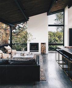 Minimal Interior Design Inspiration - wohnzimmer // living room - Home Design Interior Design Inspiration, Decor Interior Design, Interior Design Living Room, Interior Decorating, Decorating Tips, Decorating Websites, Design Ideas, Design Trends, Modern Cabin Interior