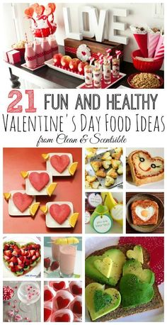 Lots of fun and healthy Valentine's Day food ideas!