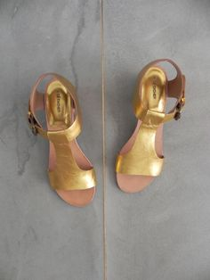 highsmith sandal, gold | A Détacher