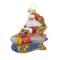 "Christopher Radko Ornament - ""Rocketing Around Santa"""