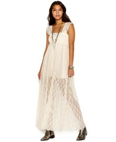 Free People Romance In The Air Lace Maxi Dress