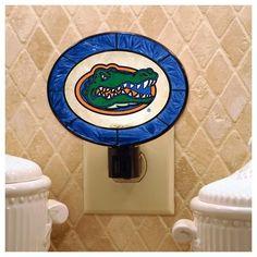University of Florida Gators Nightlight Art Glass Night Light