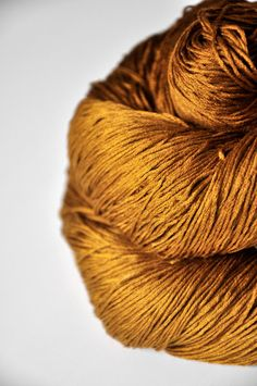 Burning terracotta OOAK Silk Lace Yarn knotty skein by DyeForYarn,