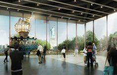 Renderings for new $70 million Statue of Liberty museum unveil...