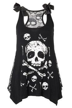 01b4f535db9 Jawbreaker Skull   Crossbones Lace Back Vest Gothic Clothing Emo clothing  Alternative clothing Punk clothing - Chaotic Clothing