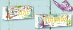 Friends & Live what you Love LED Light Box Laugh Play Butterflyby Lisa Pollock Led Light Box, Lisa, Home And Garden, Play, Friends, Decor, Amigos, Decoration, Decorating