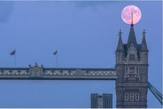 The super moon over London.
