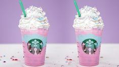 Make your own Starbucks Unicorn Frappuccino! Make your own Starbucks Unicorn Frappuccino! Starbucks Unicorn Frappuccino Recipe, Bebidas Do Starbucks, Starbucks Hacks, Starbucks Secret Menu Drinks, Cream Based Frappuccino Recipe, Non Coffee Starbucks Drinks, Starbucks Summer Drinks, Starbucks Smoothie, Desert Recipes