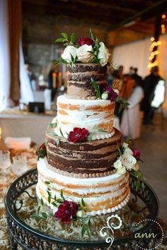rustic wedding cakes Naked cake design with butter cream i . - rustic wedding cakes cakes Naked cake design with butter cream icing - Wedding Cake Icing, Wedding Cake Rustic, Beautiful Wedding Cakes, Wedding Cake Designs, Elegant Wedding, Fall Wedding, Our Wedding, Dream Wedding, Perfect Wedding