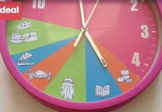 Clock for primary Teaching Social Skills, Teaching Kids, Kids Learning, Kids School Organization, Routine, Education Positive, Kids Schedule, Chore Chart Kids, Charts For Kids