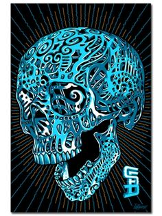 3D Skull By Palehorse Design for Steadfast Brand #inkedshop #skull #design #print #art #awesome
