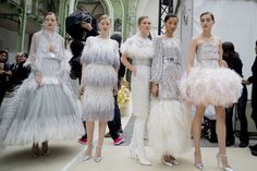 Backstage at Chanel Photographed by Kevin Tachman