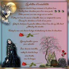 le philtre d'invisibilité Le philtre d'invisibilité Prenez une dent de loup ramassée à la pleine lune  Cueillez trois chardons près d'un vieux puits  Faites pousser une rose rouge sur un rocher  Mettez de l'eau de source à bouillir dans un récipient de cuivre