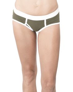 Olive Women's Y Front Undies Organic Cotton