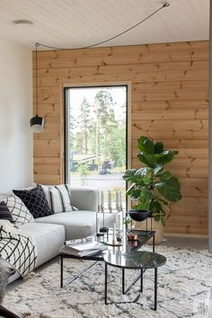 ASUNTOMESSUT 2017: HONKA INK Small Living Rooms, House Design, Summer House Interiors, Scandinavian Home, House Inspiration, Home Decor, House Interior, Cottage Interiors, Interior Design