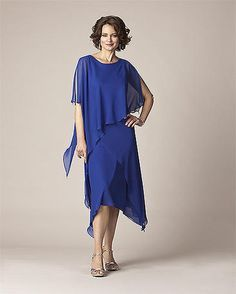 This Vintage chiffon dress is a great pick as a #Mother of the Bride - or Groom - who has a destination wedding.  If your destination is warm, and you want your arms covered, this might be what you're looking for. Great in both Missy and as a #Plus Size Mother of the Bride dress. Light weight, cool and comfortable.  This dress travels well. Can be worn later for cocktail parties and other social occasions. This makes a fabulous #Mother of the Groom dress too!