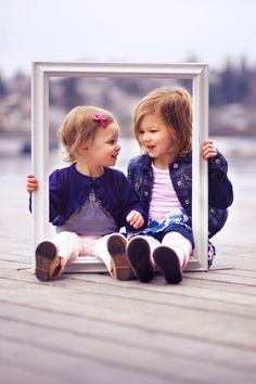how cute! @Aubrey Godden Godden Godden Dettmer, a photo idea? stick baby feet thru the frame