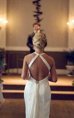 Elegant french twist bridal updo. #LuxBride