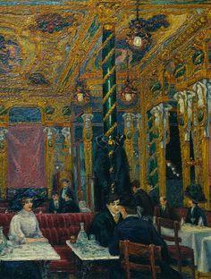 Charles Isaac Ginner (1878 - 1952) :  The Café Royal, 1911