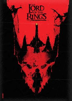 The Lord of the Rings minimalist movie poster