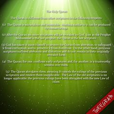 The holy Quran is different from other scriptures