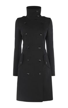 Manteau court noir femme