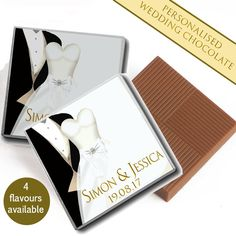 100 Personalised Chocolate Wedding Favours Mr & Mrs Table Decoration Pack  | eBay