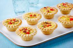 Mini Cheese & Bacon Quiche Appetizers Recipe - Kraft Canada