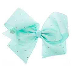 <P>Get the ultimate dancing hair accessory with this super fun large mint coloured hair bow from the Jojo Siwa collection. The bow has been attached to a metal salon clip making it really easy to wear and has been covered in rhinestones so you will sparkle from head to toe. </P><UL><LI>Jojo Siwa collection <LI>Large mint rhinestone bow <LI>Metal salon Clip</LI></UL><P>The Jojo Siwa signature bow collection is available at Claire's and has been inspired by Jojo's iconic dance hair styles…