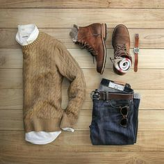 Cable Knit and Jeans