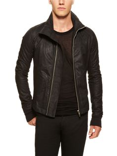 Rick Owens Intarsia Leather Jkt