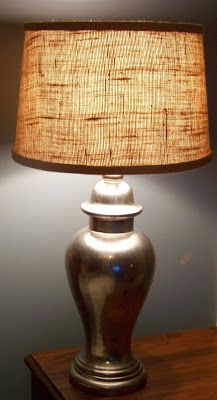Designing Details: Burlap Lamp Shade & Mercury Glass Lamp....Divine!!!