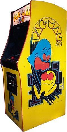 pacman arcade machine...gameroom!