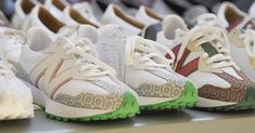 Green Accents, Casablanca, Celtic Knot, Pastel Pink, New Balance, Color Blocking, Adidas Sneakers, Two By Two, Burgundy