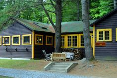 Cabins! Love the blue