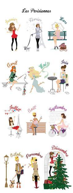 Les Parisiennes. So cute!!!