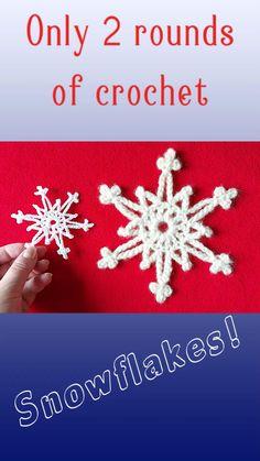 Christmas Crafts To Sell, Crochet Christmas Decorations, Crochet Christmas Ornaments, Crochet Decoration, Christmas Snowflakes, Free Crochet Snowflake Patterns, Crochet Christmas Stocking Pattern, Holiday Crochet, Crochet Snowflakes
