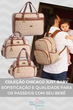 66e1a57c0 Conheça a Coleção Chicago Bege Just Baby. Uma coleção de bolsas de  maternidade, mala