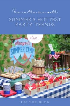 FUN IN THE SUN WITH SUMMER'S HOTTEST PARTY TRENDS Birthday Party Celebration, Birthday Party Themes, Diy Party, Party Fun, Party Ideas, Summer Table Decorations, Ice Cream Party, Summer Parties, Party Planning