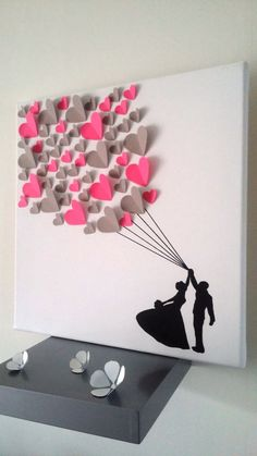 guest book - signature tree - fingerprint tree on a canvas . - guest book – signature tree – fingerprint tree on canvas in co … - Kids Crafts, Tree Crafts, Diy And Crafts, Arts And Crafts, Kids Diy, Valentines Bricolage, Valentine Crafts, Kids Valentines, Papier Diy