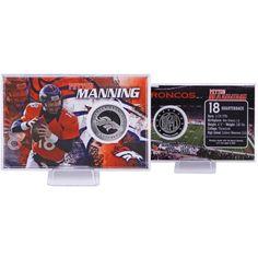 Peyton Manning Denver Bronco Fan Gear Silver Football Coin