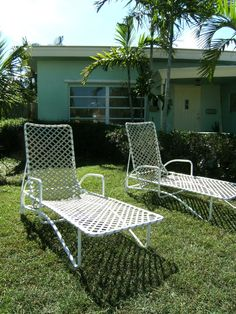Reserved For Jdidonato Mid Century Brown Jordan Patio Chaise Lounge Tamiami  Set Palm Beach Hollywood Regency
