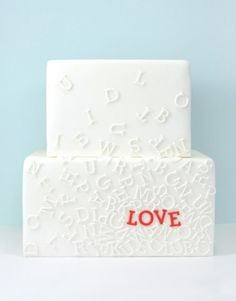 The cutest typography cake for your dear one