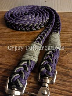 Paracord Horse Reins by GypsyTuffCreations on Etsy