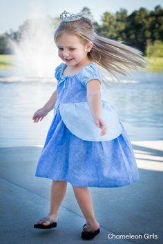 Cinderella Disney Princess Inspired Peasant by ChameleonGirls. , via Etsy.