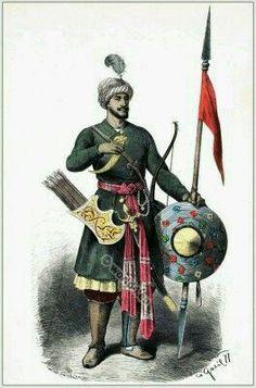 - Arquero Hindu . Siglo XV ./tcc/