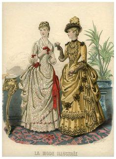 hoopskirtsociety:   1886 Fashion Plate - I like history a bit too much