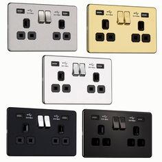 Power socket with USB ports