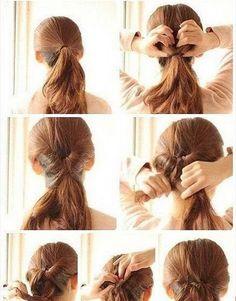 Ładna fryzura do szkoły